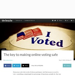 Du Vote, the tech that could make online voting safe