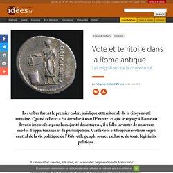 Vote et territoire dans la Rome antique