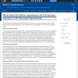 What does the Brexit votemeans for the tourism industry in UK Serviced Apartments - Brexit Votemeans