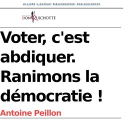 Voter, c'est abdiquer - Antoine Peillon