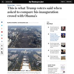 This is what Trump voters said when asked to compare his inauguration crowd with Obama's