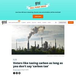 Voters like taxing carbon as long as you don't say 'carbon tax'
