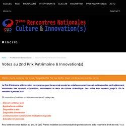 Votez au 2nd Prix Patrimoine & Innovation(s)