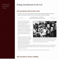About the 15th, 19th and 26th Amendments