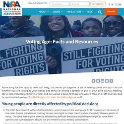 Voting Age: Facts and Resources - NYRA