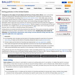 Voting policies in the United States - Ballotpedia