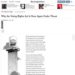 Why the Voting Rights Act Is Once Again Under Threat