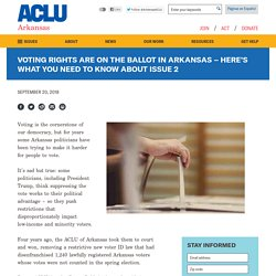 Voting Rights Are On the Ballot in Arkansas – Here's What You Need to Know About Issue 2