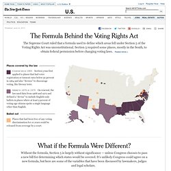 Voting Rights Act Map - Graphic