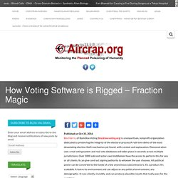How Voting Software is Rigged - Fraction Magic -