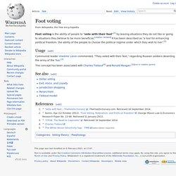 Foot voting