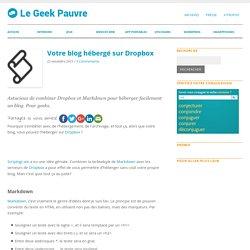 Héberger un blog sur Dropbox
