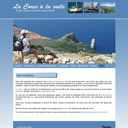 Votre croisiere en Corse : La Corse a la Voile