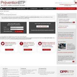Votre espace / OPPBTP - Prévention BTP