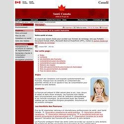 SANTE CANADA30/09/05Les fluorures et la santé humaine