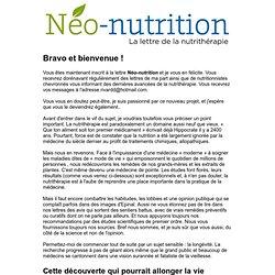 Votre lettre Neo-nutrition