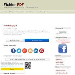 Votre Potager (Votre Potager.pdf) - Fichier PDF