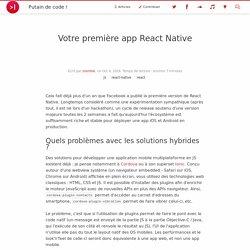 Votre première app React Native