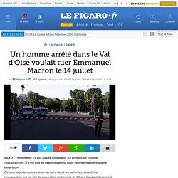 Un homme arrêté dans le Val d'Oise voulait tuer Emmanuel Macron le 14 juillet