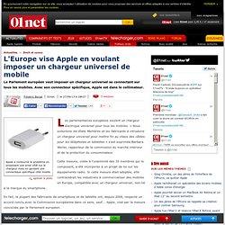 L'Europe vise Apple en voulant imposer un chargeur universel de mobile