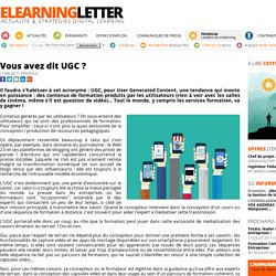 Vous avez dit UGC ?
