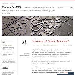 Vous avez dit Linked Open Data?
