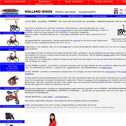 De R22 DI-BLASI VOUWFIETS, UITERMATE GESCHIKT VOOR de FORENS, SCHIPPER EN STADSGEBRUIK van HOLLAND-BIKES