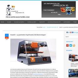 Voxel8 - de l'électronique dans l'impression 3D