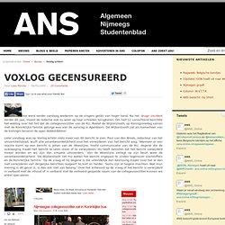 Voxlog gecensureerd