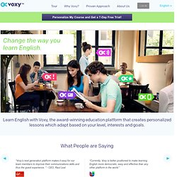 VOXY :: Learn a language from life