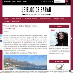 Voyage en Afrique du Sud de Cape Town à Johannesburg