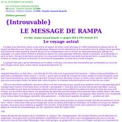 Voyage Astral (Rampa )