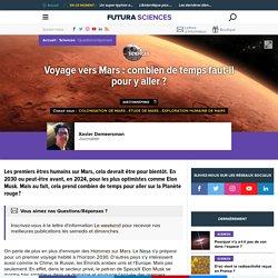 Voyage vers Mars : combien de temps faut-il pour y aller ?