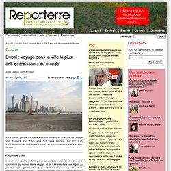 Dubaï : voyage dans la ville la plus anti-décroissante du monde