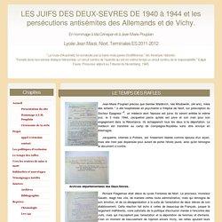 Les Juifs des Deux-Sèvres. Projet lycéen