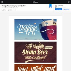 Voyage Font Family by Emil Bertell on Behance