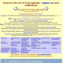 Voyage en Francophonie