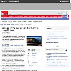 Voyage en 3D sur Google Earth avec Leap Motion