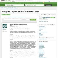 voyage de 10 jours en Islande automne 2013 - Forum de voyage sur Islande