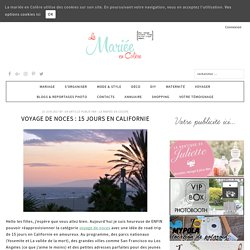 Voyage de noces : 15 jours en Californie
