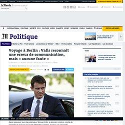 Voyage à Berlin : Valls remboursera la part de ses enfants