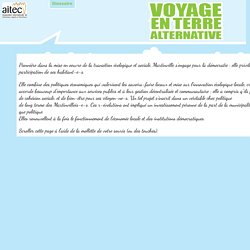 Voyage en terre alternative