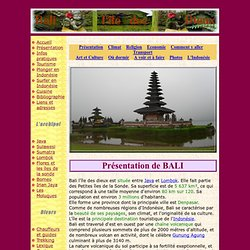 Indonésie - Bali, sur voyageindonesie.net