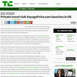Private travel club VoyagePrive.com launches in US