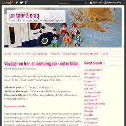 Voyager en Iran en camping-car : notre bilan - un tour à cinq