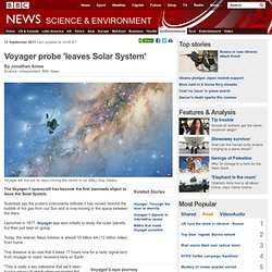 Voyager probe 'leaves Solar System'