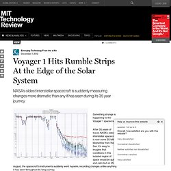 Voyager 1 Hits Rumble Strips At the Edge of the Solar System