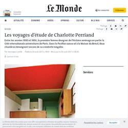 Les voyages d'étude de Charlotte Perriand