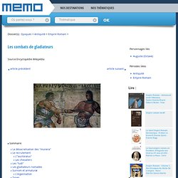 La gladiature (MEMO)