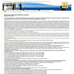 Voyages -Conditions générales de vente